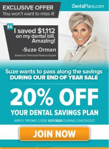suze orman dental savings plan